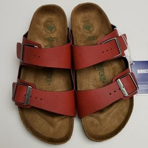 Birkenstock Arizona Vegan Red Sandals